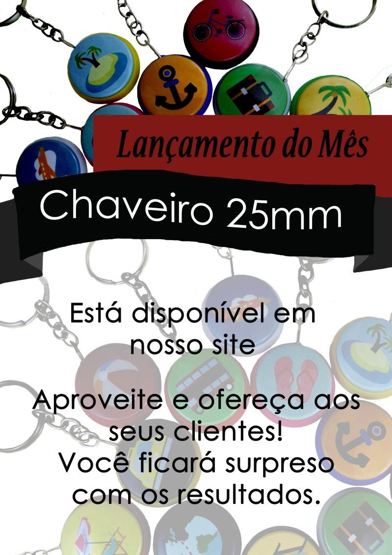 lançamento chaveiro 25 lv