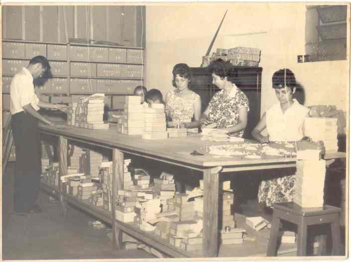 Setor de Contagem e embalagem Ano 1962